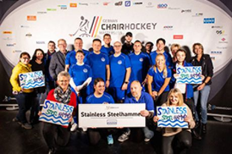 Das Marinetech Chair Hockey Team 2019